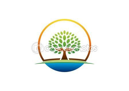 #hand #tree #logo #natural #arms #wellness #icon #yoga #health #care #symbol #vector #design http://depositphotos.com/?ref=3904401