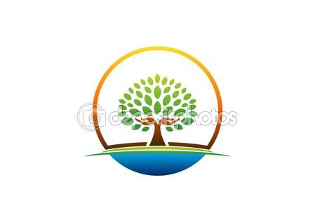 #hand #tree #logo #natural #arms #wellness #icon #yoga #health #care #symbol #vector #design http://depositphotos.com/?ref=3904401