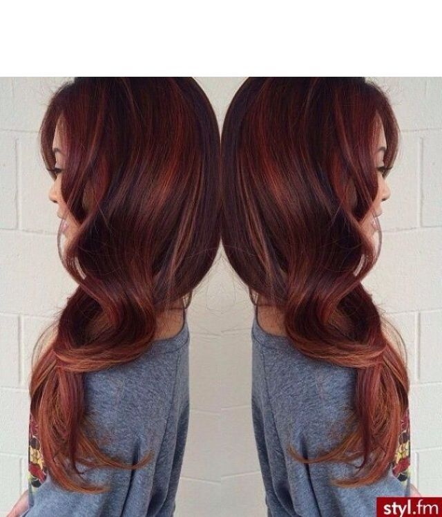 Love the red highlights! Gorgeous hair