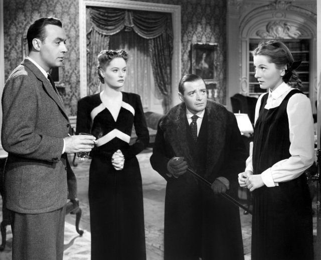 Still of Joan Fontaine, Peter Lorre, Charles Boyer and Alexis Smith in The Constant Nymph (1943)