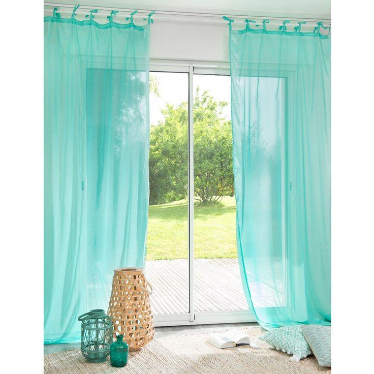 les 25 meilleures id es de la cat gorie rideau turquoise sur pinterest rideaux turquoises. Black Bedroom Furniture Sets. Home Design Ideas