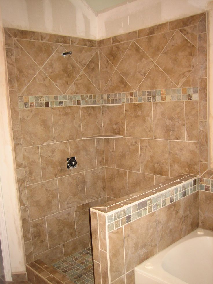 Tile Designs For Showers Mod Master Bath Shower In Colorways