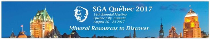 #geocongress SGA 2017 — 14th Biennial Meeting of Society for Geology Applied to Mineral Deposit. Québec, Canada. 20 Aug 2017 - 23 Aug 2017. The 14th Biennial SGA Meeting will be held in Québec City, Canada, in August 2017. The Organizing Committee has designed an outstanding scientific program and social activities to make your visit in the capital of Québec a very interesting experience in science and a discovery to remember...
