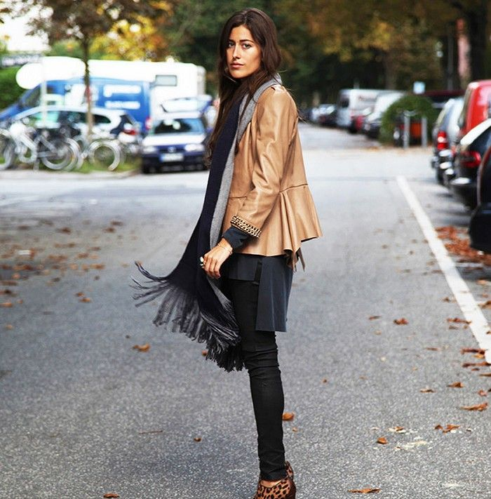 Buttery soft leather jacket + fringe via hugyou