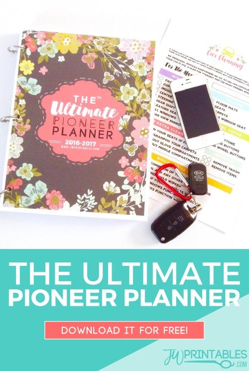 The Ultimate Pioneer Planner™ FREE Download! | JW Printables