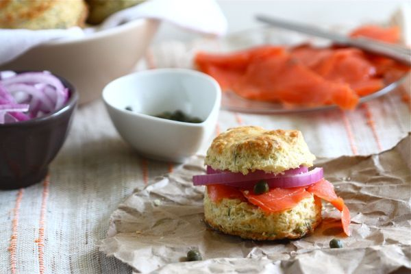 Yogurt Dill BiscuitsDill Biscuits, Smoked Salmon, Dill Yogurt, Biscuits Recipe, Food, Smoke Salmon, Salts Biscuits, Baking Breads, Yogurt Dill