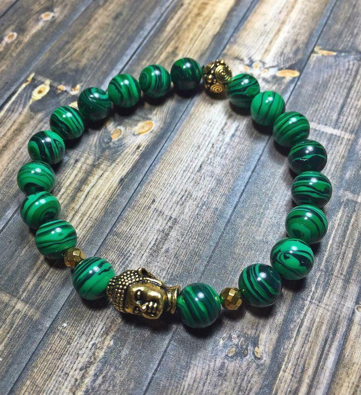 Malachite Buddha Bracelet