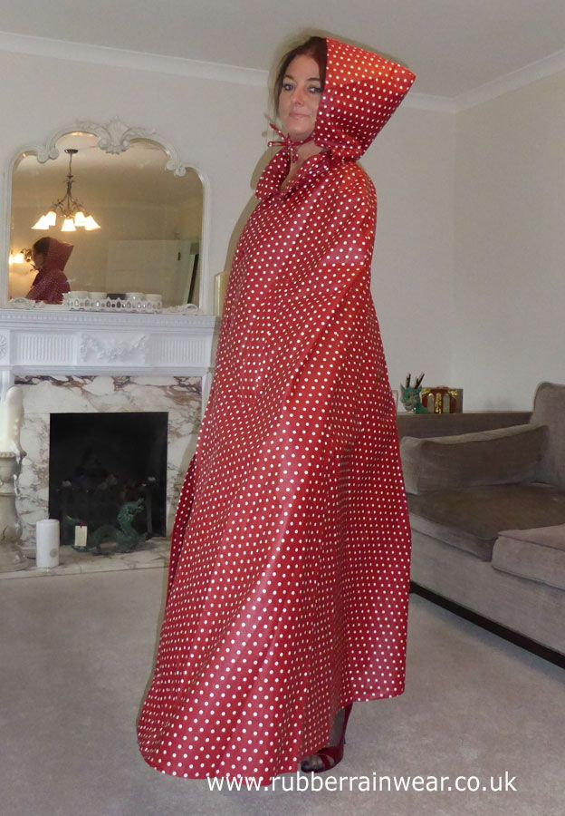 Hayley in her gorgeous red polka dotted cape. As alluring and beautiful as ever.
