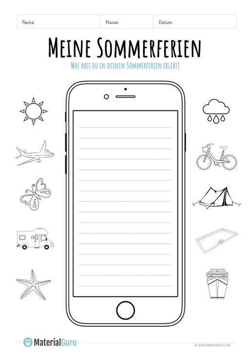 Summer holidays Review on smartphone