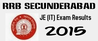 RRB Secunderabad JE (IT) Final Results 2015