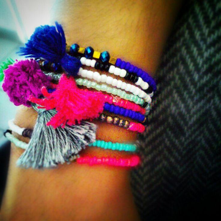 Beads tassels and pompom |PcU