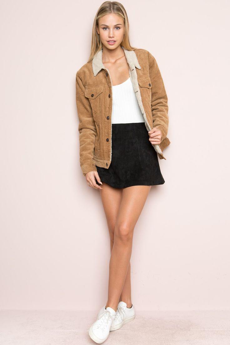 Brandy ♥ Melville | Elisha Fur Corduroy Jacket - Just In