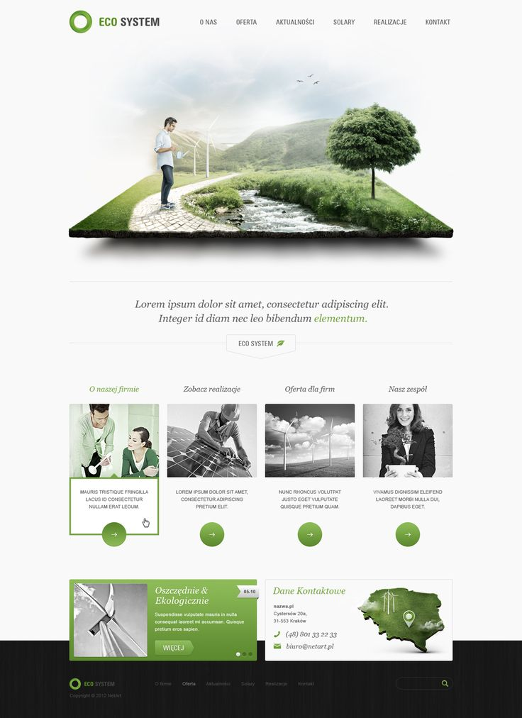 Eco System Website Landing Page with 3D Rendered Illustrations/Graphics