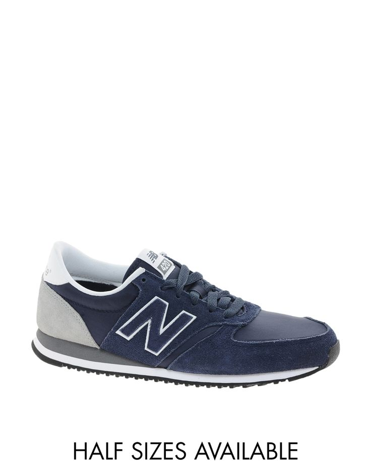 New+Balance+420+Navy+Suede+Trainers