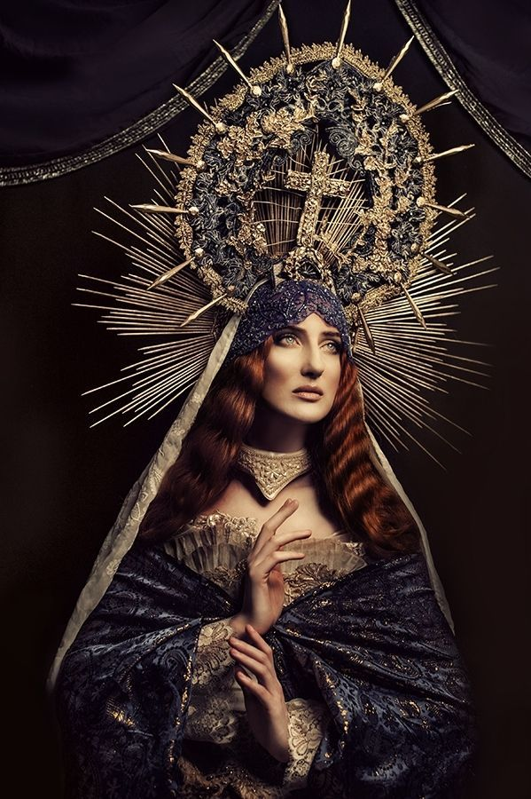Historically Ornate Portraits - Madonnas by Katarzyna Widmanska is Inspired by Mother Mary (GALLERY)