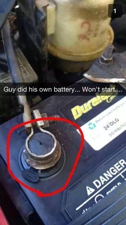 Won't start, must be the wrong battery