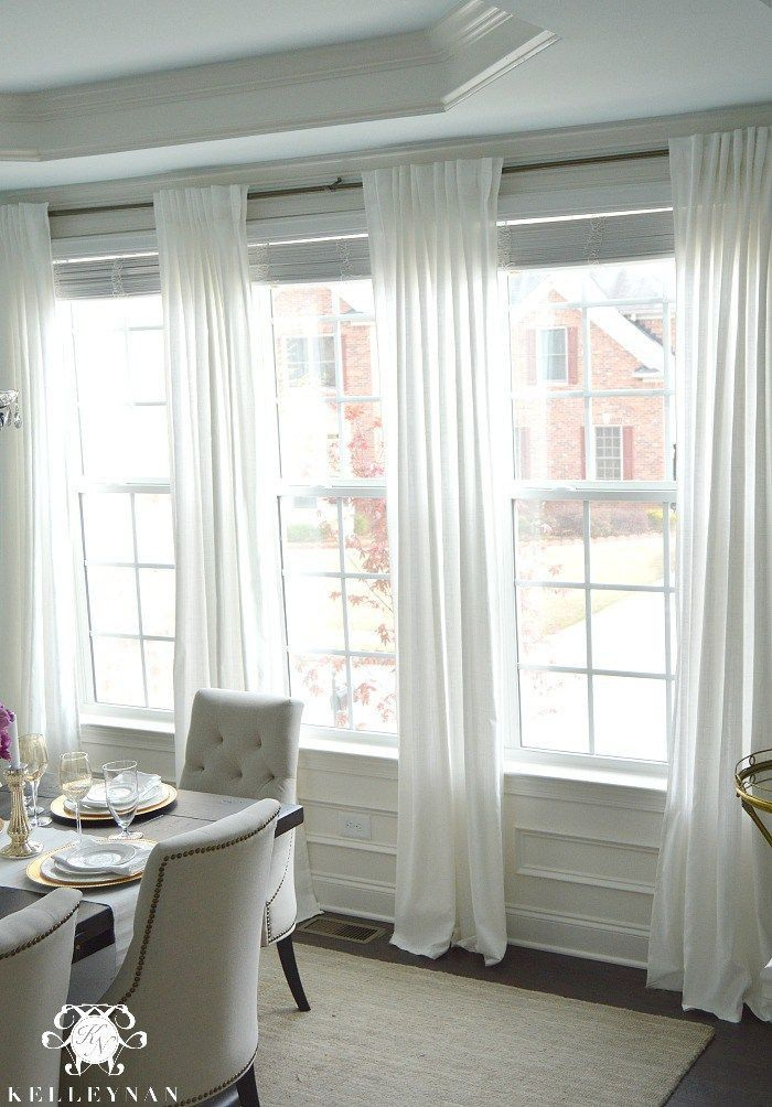 Ikea Ritva Drapes The Best Inexpensive White Curtains Window Treatments Living Room Dining Room Curtains Dining Room Windows
