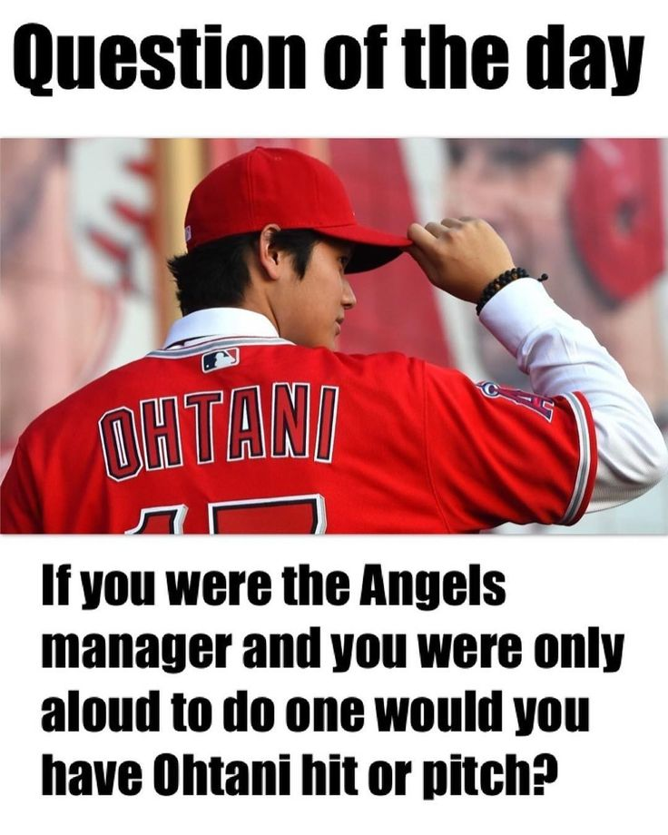 If you the Angels manager and you can only aloud to have Shohei Ohtani do one would you have him hit or pitch? #mlb #giants #pirates #cubs #nationals #mets #braves #baseball #beisbol #yankees #royals #tigers #orioles #bluejays #redsox #dodgers #rangers #astros #athletics #worldseries #reds #whitesox #twins #mariners #angels #marlins #cardinals #rangers #phillies #brewers #indians