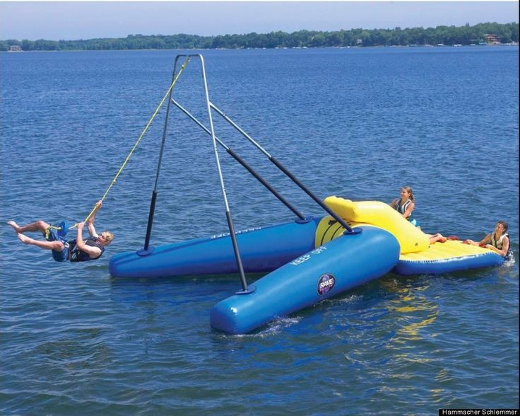 The Floating Rope Swing would be perfect at the lake house! 21 Toys For Adults In The 1 Percent