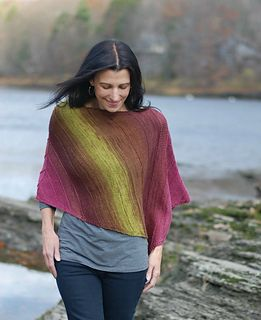 Time Makes You Bolder.  Poncho pattern by Mary Annarella #LyricalKnits