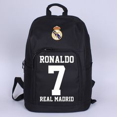 Real Madrid Ronaldo 7 Shoulder Bags Backpack