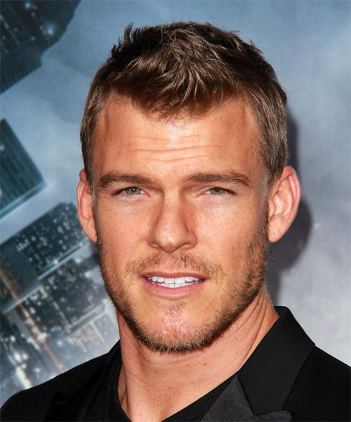 Alan Ritchson Short Straight Hairstyle - Medium Brunette