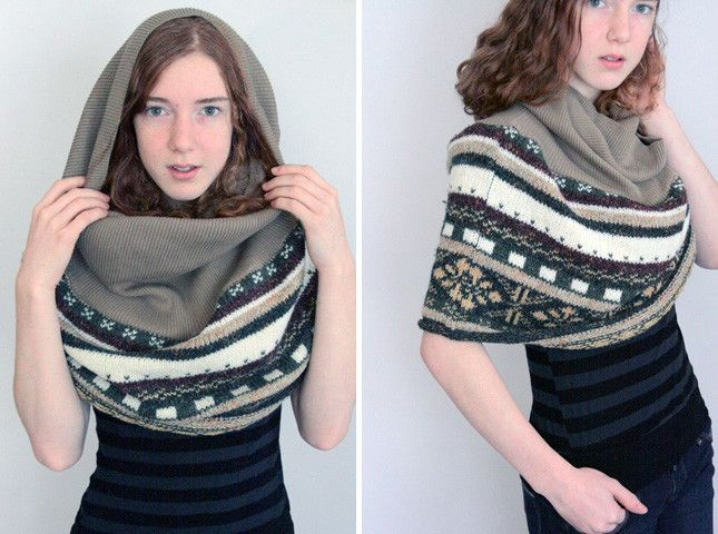 Who needs a hoody when you have this made from recycled sweaters