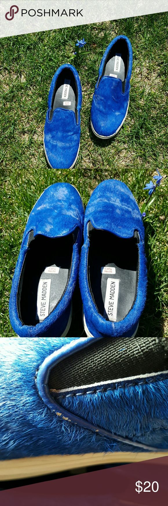 Steve Madden royal blue sneakers 9 Nice pre-loved shoes in good condition. Steve Madden Shoes Sneakers
