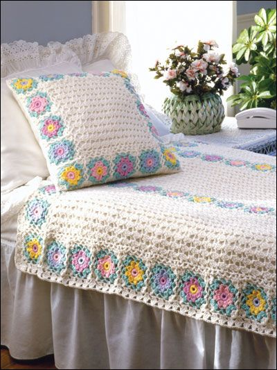 crochet blanket and pillow, inspiration.