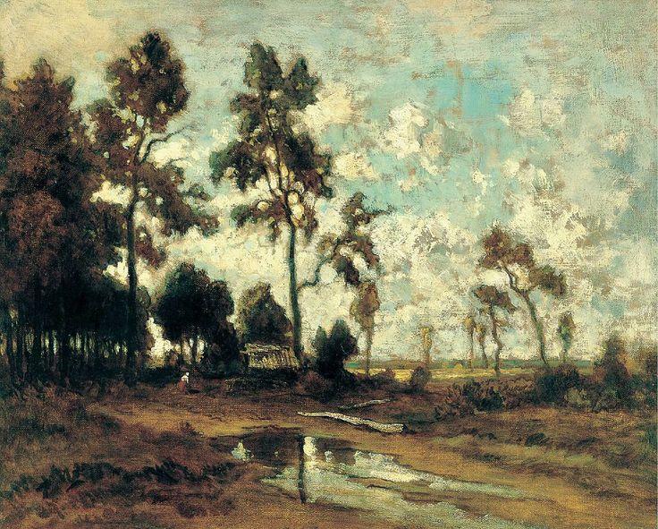 Théodore Rousseau - La cabane du charbon de bois dans la forêt de Fontainebleau