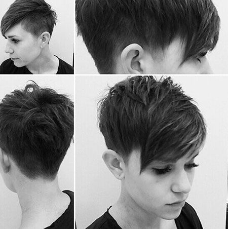 Short Stacked Pixie Haircuts