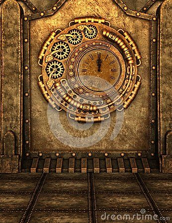 Steampunk Clock Scene - Download From Over 41 Million High Quality Stock Photos, Images, Vectors. Sign up for FREE today. Image: 55949407