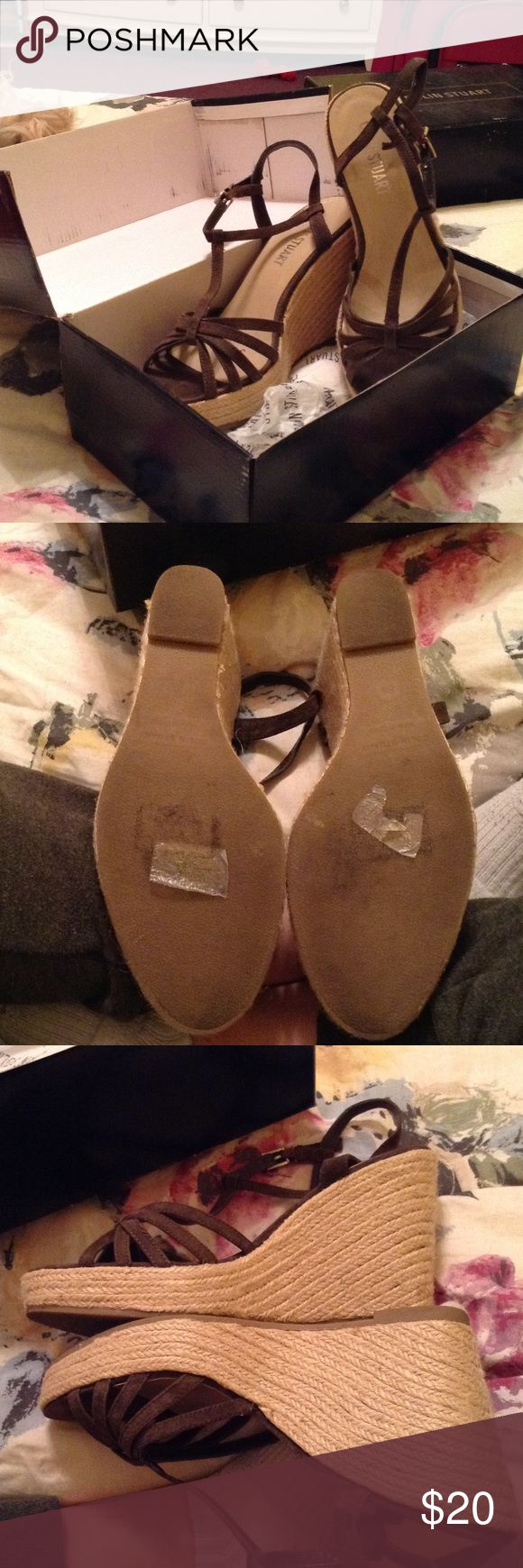 Colin Stuart espadrilles Brown Strappy espadrille wedges by Colin Stuart never worn Colin Stuart Shoes Espadrilles