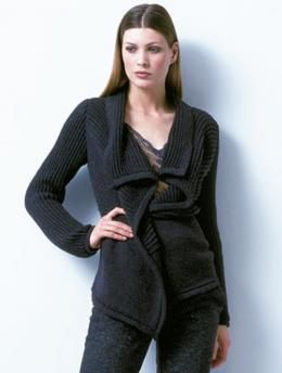 Ladies' cardigan, 939 - Free Pattern: This cardigan in Schachenmayr Merino Extrafine 120 can be combined with every type of garment. The soft color and the elegant design offer an especially attractive combination.