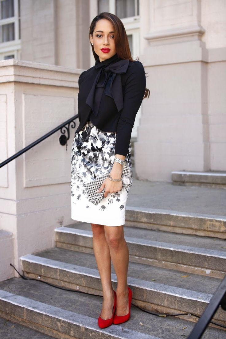 Jacket: Alice & Olivia , Dress: Maggy London ( similar here ) c/