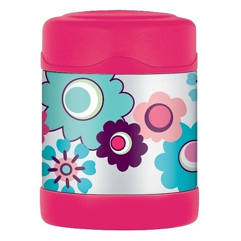 Thermos Food Flask - Thermos Food Jar - Baby Food Jar.  See our website:  http://haggusandstookles.com.au/product/view/Baby-Feeding-Bowls-Food-Jars-and-Utensils/thermos-funtainer-food-jar-flower/30/1405/