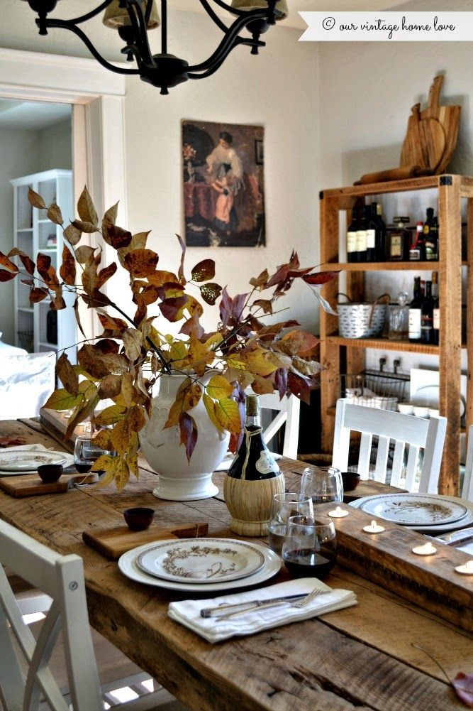 Our vintage home love fall dining room