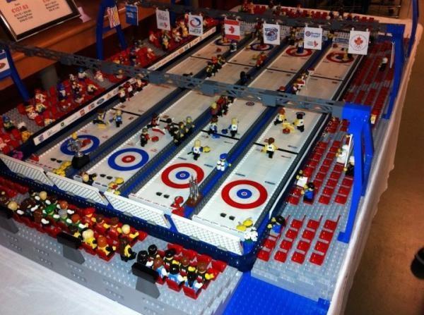 Lego Curling rink
