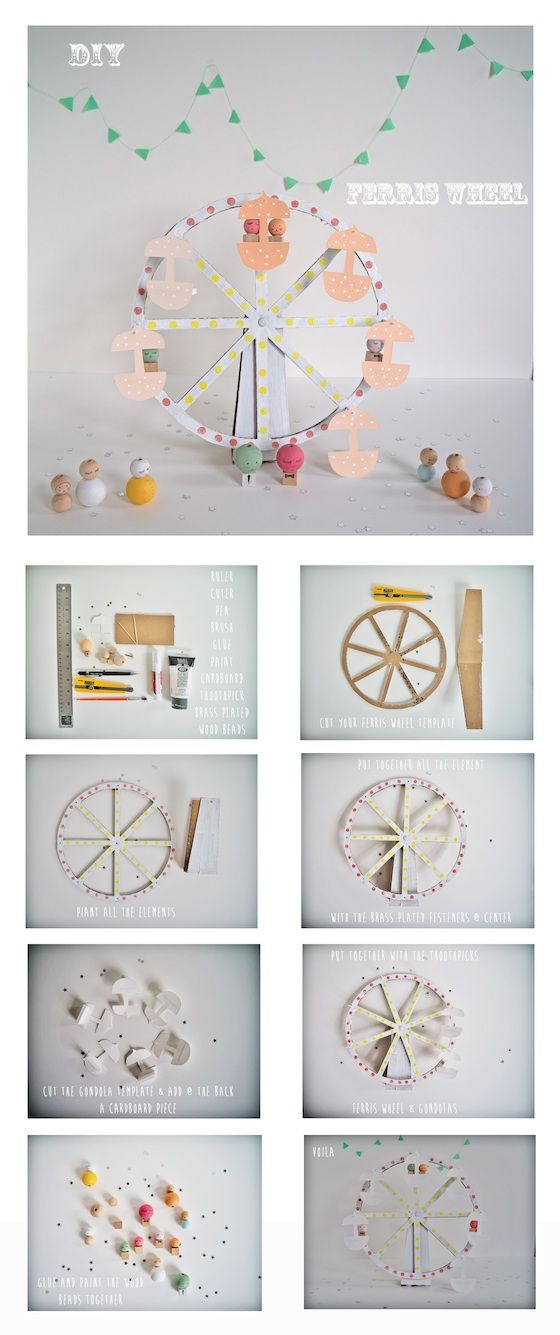 ***Ferris wheel*** I found that DIY super existing: Estefi Machado blog inspired me. Here the templates:template-Model-template-Model-1 To all the french Mamans, andespeciallymine I wish them a...