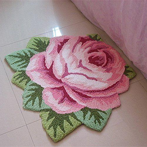 Ustide Modern Style Rug Soft Rose Rug Handmade Rug Anti-Slip Area Carpet Living Room Rug Kitchen Mats Bedroom Rug 3x2 USTIDE http://www.amazon.com/dp/B00PU8O7V0/ref=cm_sw_r_pi_dp_ur6wwb0CATD92