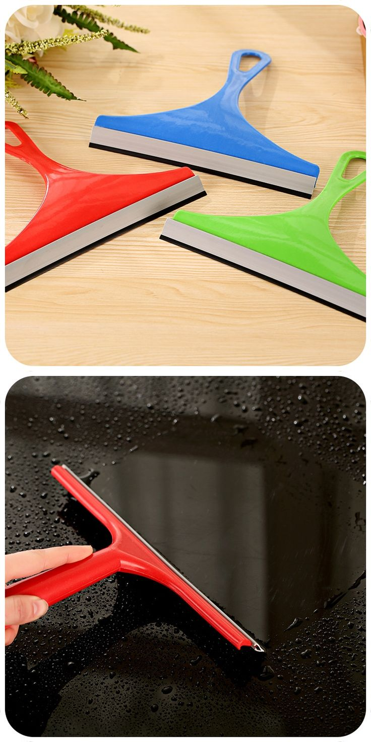 New Simple Durable Colorful Window Mirror Car Windshield Glass Wiper Silicone Blade Cleaning Shower Screen