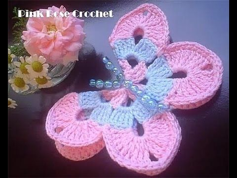 How To Make A Crocheted 3D Butterfly - DIY Crafts Tutorial - Guidecentral - YouTube