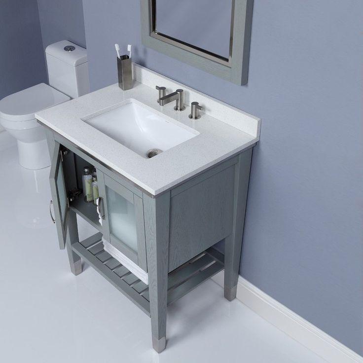 Decolav Briana 30 Inch Bathroom Vanity Solid Wood Frame And Legs