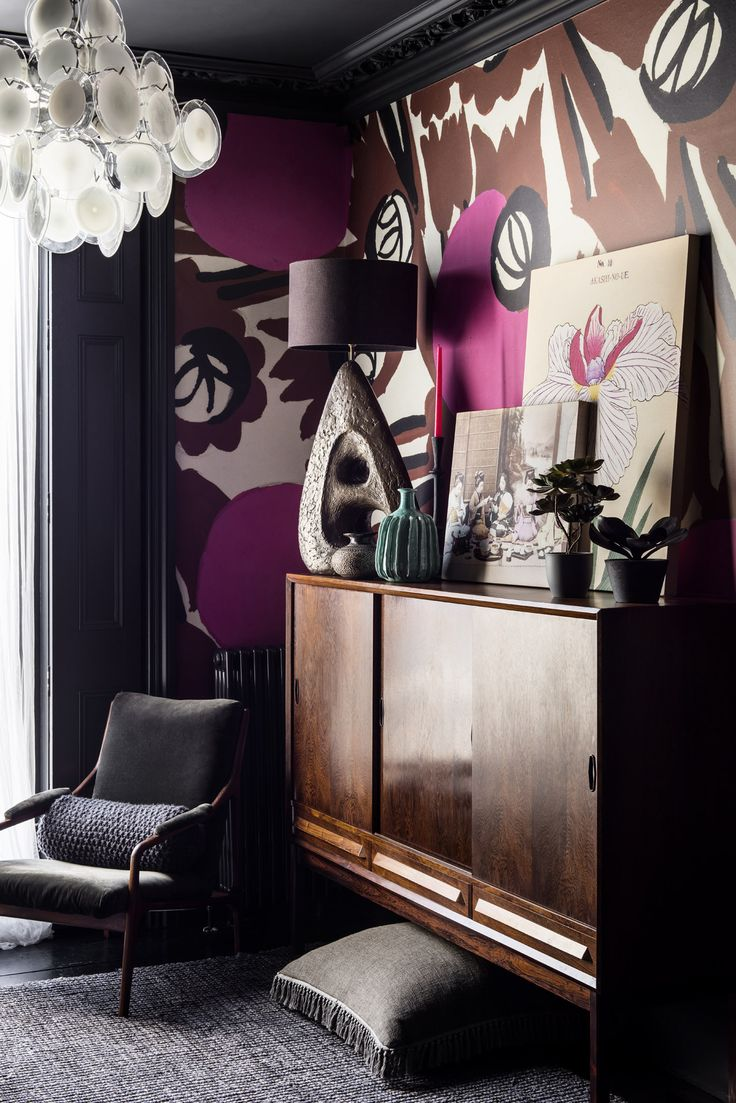 'Circles and Flowers' Mural - Atelier Zina de Plagny Collection   Shop Cushions & Wall Murals at surfaceview.co.uk