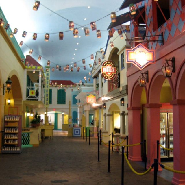 Best Places To Travel In September In The Caribbean: Carribean Beach Resort Food Court. This Is Where We Are