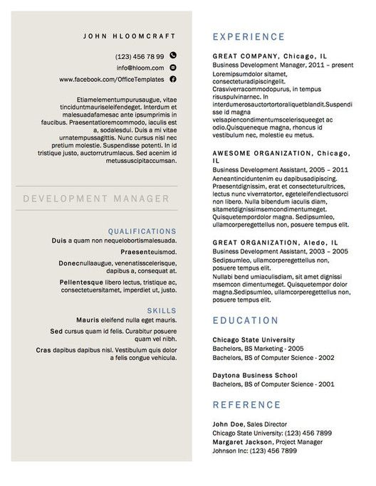 1000 ideas about Resume Templates – Resume Templates