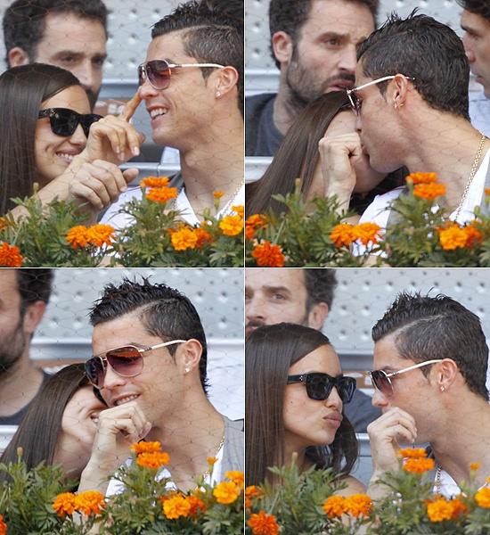 Cristiano Ronaldo e Irina Shayk: risas, besos y carantoñas en el tenis