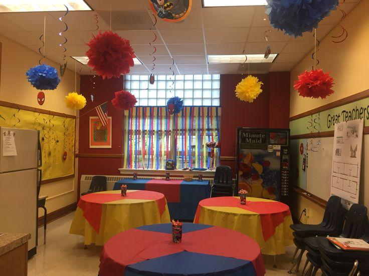 Superhero Teacher decorations#3
