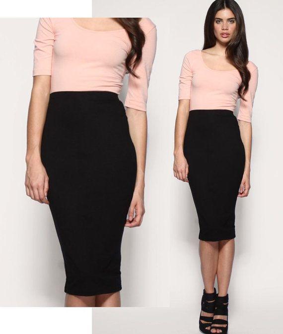 Best 25  Long pencil skirt ideas on Pinterest | Pencil skirt work ...