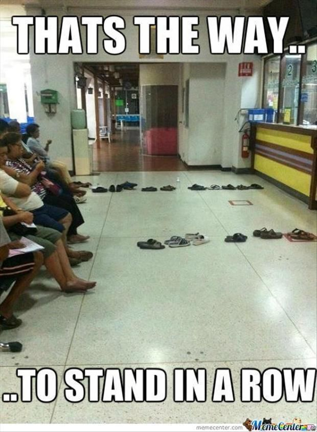 We should seriously start doing this, as long as you don't have the same pair of shoes as someone else.